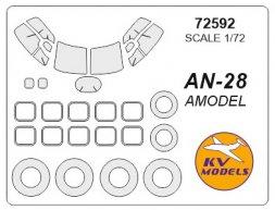 An-28 mask for Amodel 1:72