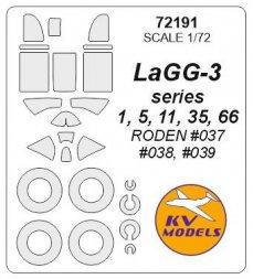 KV Models LaGG-3 mask for Roden 1:72