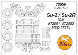 Su-2/ Su-2R mask for ICM 1:72