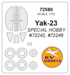 Yak-23 mask for Special Hobby 1:72