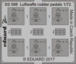 Eduard Luftwaffe rudder pedals 1:72