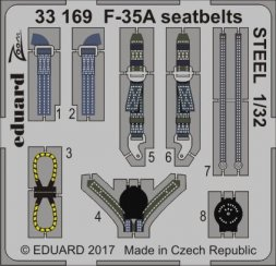 Eduard F-35A seatbelts STEEL 1:32