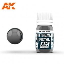 AK Interactive - Xtreme Metal Steel  30ml