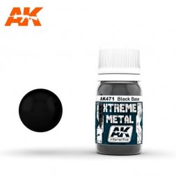 AK Interactive - Xtreme Metal Black Base 30ml
