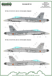 F/A-18 (EF-18) Spain standard markings & stencils 1:72
