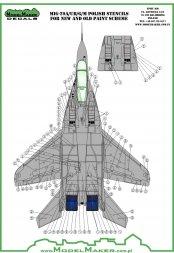 MiG-29 Fulcrum - Polish stencils 1:48