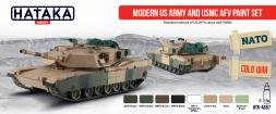 Hataka Hobby US Army and USMC AFV Modern paint set