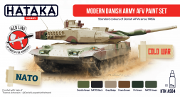 Hataka Hobby Danish Modern Army AFV paint set