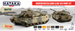 Hataka Hobby British Modern Army & RAF AFV paint set