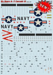 A-7 Corsair ll - US Navy Techical stencils 1:48