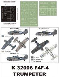 F4F-4 Wildcat (US NAVY) super mask for Trumpter 1:32