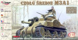 Mirage Hobby M3A1 US Medium Tank 1:72