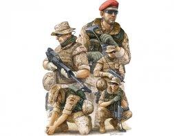 Trumpeter German Modern ISAF Soldiers in Afghanistan 1:35