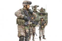 Trumpeter U.S. Army Modern Armor Crewman & Infantry 1:35