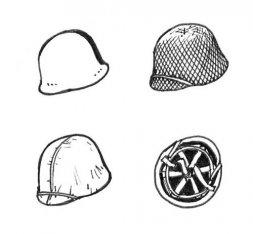 CMK US WW II helmets 1:35