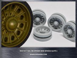Miniarm T-34/85 Spider web road wheels set (late type) 1:35