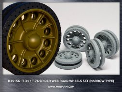 Miniarm T-34/76 Spider web road wheels set (narrower tires) 1:35