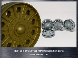 Miniarm T-34/76 Steel road wheels set (late type) 1:35