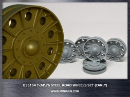 Miniarm T-34/76 Steel road wheels set (early version) 1:35