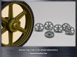Miniarm T-30/T-60/T-70 Spider web wheels 1:35