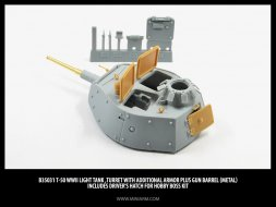 Miniarm T-50 Turret with additional armor 1:35