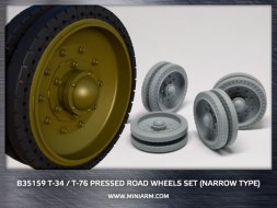 Miniarm T-34/76 Pressed road wheels set (narrow type) 1:35