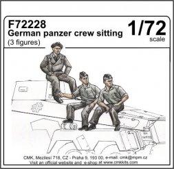 CMK German panzer crew sitting 1:72