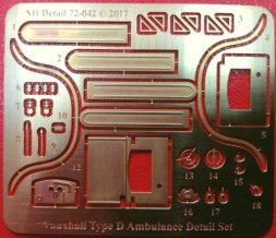 NH Detail Vauxhall Type D Ambulance Detail Set for Roden 1:72