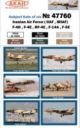 AKAN Iran AF - F-4, RF-4,F-14, F-5 (IINA, IRINA)
