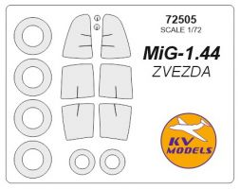 MiG 1.44 MFI mask for Zvezda/ Revell 1:72
