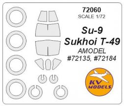 Su-9/ T-49 mask for Amodel 1:72