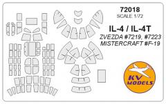 Il-4/ Il-4T mask for Zvezda 1:72