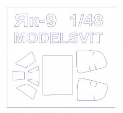 Yak-9DD mask for Modelsvit 1:48