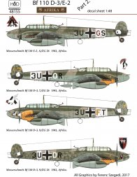 Bf 110D-3/E-2 Afrika Part.2 1:48