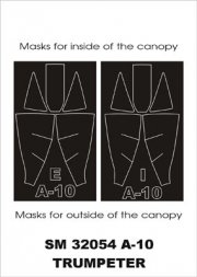 A-10A mini mask for Trumpeter 1:32