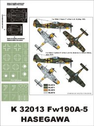 Fw 190A-5 super mask for Hasegawa 1:32