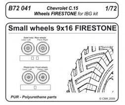CMK Chevrolet C.15A wheels small type 9x16 (FIRESTONE) 1:72