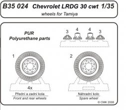 CMK Chevrolet L.R.D.G 30 cwt wheels set 1:35