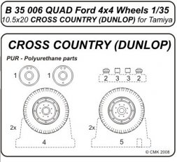 CMK Quad Gun Tractor wheels set (10.5x20 Cross Country) 1:35