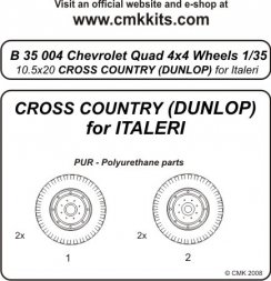 CMK Quad Chevrolet 4x4 - wheels 10.5x20 Cross Country 1:35