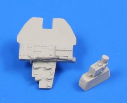 CMK P-40E Instrument panel with gun sight for Hasegawa 1:32