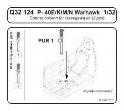 CMK P-40E Control column 1:32