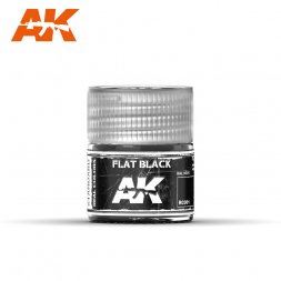 AK Real Colors - RC001 Flat Black (RAL9005) 10ml