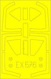 Eduard Mask Harrier T.2/ T.4/ T.8 for Kinetic 1:48