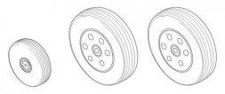 BAe Hawk 100 series - Wheels set for Airfix 1:48