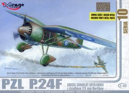 Mirage Hobby PZL P.24F Greek Fighter with 20mm Oerlikon 1:48