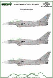 ModelMaker Eurofighter Typhoon German Stencils & insignias 1:48
