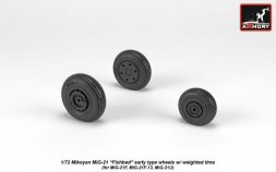 Armory MiG-21 Fishbed early type wheels w/ weighted tires 1:72