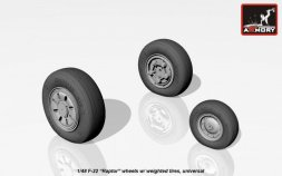 F-22 Raptor wheels w/ weighted tires 1:48