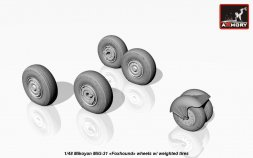 MiG-31 wheels w/ weighted tires 1:48